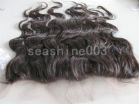 Wholesale Hot Queen Hair Brazilian human virgin hair Body Wave Lace Frontal quot remy hair no shedding g pc black Top Quality