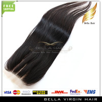 Wholesale New Arrival Top Closures way part lace closure Queen hair products brazilian virgin human hair x4 hair weaves silky straight Bellahair