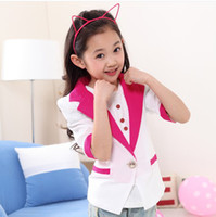 Wholesale 2014 New Arrival Summer Clothing Children Chiffon Small Coat Girl s Half Sleeve Chiffon Jacket Kids Jacket Coat S0522