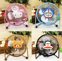 Pedestal iron CE USB Mini Cartoon Fans Laptop USB Catoon Cooling Fans Notbook Radiator Free Shipping 3pcs lot