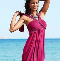 Cheap Women swimwear dress Best Swimdress Pure Colour beach dress