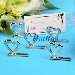 Wholesale Wedding Party Heart Style Reception Table Place Card Holder Memo Holder okcbuy