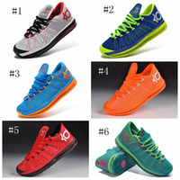 Basketball Flat Men 2014 New Release KD VI 6 Elite Basketball Shoes Kevin Durant 6 Athletic Sports Shoes Low-cut Ultra-thin foam Flywire tech size US7-12