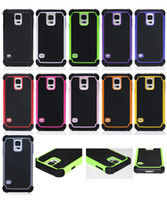 For Samsung Plastic  Hybrid Hard Plastic Soft Silicone Dual Protector Football Grain Case Cover for Samsung Galaxy S5 I9600 S3 i9300 S4 i9500 Note3 N9000