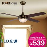 Wholesale Vandykes fxb246 fan lights led antique ceiling fan lights pendant light fan remote control electric fan lighting