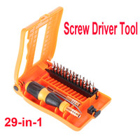 Screwdriver Set Slotted H9706 Free Shipping Professional 29-in-1 Interchangeable Versatile Hardware Screwdriver Tool Kit with Carry Box wholesale