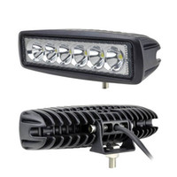 Cheap Free shipping 10pcs lot 6inch 18W Mini LED Bar 12V 4X4 LED Day time Running Lights Flood Spot for Offroad 4X4 Truck ATV LED Work Light