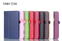 7'' 10.1 tablet case - Folio Stand PU Leather Flip Case Cover for Samsung Galaxy Tab Tab4 T230 T330 T530 with sleep and wake up inch tablet CASE