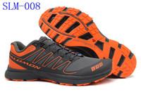 Wholesale 2014 New Arrival Zapatillas Solomon Men Black Orange Running Shoes Sneakers Sports Original Quality Men Walking Cross Country Shoes Hot Sale