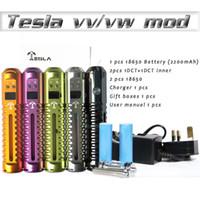 Wholesale Tesla Variable voltage x3 Mod vv vw power tesla M2 M5 mods with Battery ecig e cig e cigarette X6 vmax vamo v3 dct vaporizer pen DHL