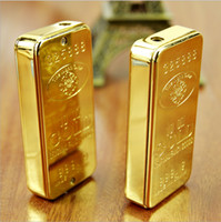 Wholesale 2PCS Novelty Gold Bar Nugget Butane Gas Refillable Lighter Luxurious gift