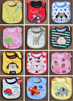 Wholesale 2014 new baby bibs baby bibs waterproof layer clothing accessories baby baby bibs aprons cotton handkerchief Children Animals