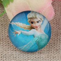 Wholesale 25mm Handmade Frozen Photo Round Glass Cabochon Beads Image Glass Cabochon Romantic Love Magnifying Round Dome Embellishments