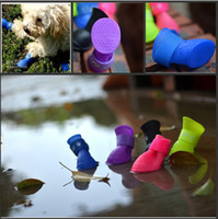 Wholesale New Outdoor Travel Pet Dog Rain Shoes Waterproof Protective Rubber Puppy Cat Boots Candy Booties S M L Size
