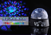 Wholesale Colorful Projection Lamps Rotating Crystal Star Light Mini Led Stage Lighting Laser light Rohana KTV Lights