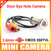 "UTK-C02 PAL 550 line New upgrade 1 4"" 550TVL CMOS 3.6MM CCTV mini Door Eye Hole Hidden Security Color Camera Doorview cctv camera"