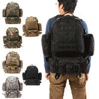 Men backpack khaki - US Stock Shoulder Tactical Backpack Rucksacks Sport Travel Hiking Trekking Bag Should Bag Backpacks Man Bags