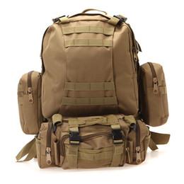 Wholesale Mountaineering Outdoor Backpack Multi Function Tactical Backpack Rucksacks Sport Travel Hiking Trekking Bag For Camping Shoulder Bag