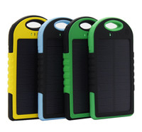 Universal new black power - Brand New Mah Portable Waterproof Solar Charger Panel Power Bank Solar Battery Black Blue Green Yellow for mobile phone Phones