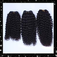 Wholesale UPS inch Natural Color Malaysian kinky curl Virgin Human Hair Extensions