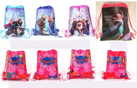 Wholesale 1404L z peppa pig bags frozen backpacks peppa pig handbags children school bags kids cartoon shopping bags