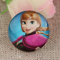 Wholesale Frozen Cartoon Mixed Handmade Photo Glass Cabochons Scrapbooking mm Flatback Cameos for Necklace Pendants