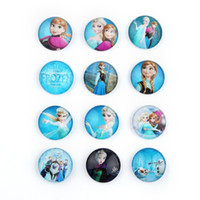 Wholesale 30mm Handmade Frozen Photo Round Glass Cabochon Beads Image Glass Cabochon Romantic Love Magnifying Round Dome Embellishments