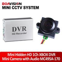 1CH-DVR-XBOX+MC495A-170 Single chip 1/3 CMOS NTSC mini HD 1 Channel Super-Smart Mini Hidden DVR Board real time+170 degree 520TVL night vision video audio color Mini security Camera MC495A