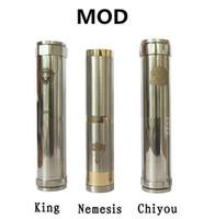 Single Silver Metal Mechanical Mod Locking Bottom Button Adjustable King Nemesis Chiyou Electronic Cigarette E Cigarette Mod fit 18650 battery mod clone vapors