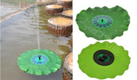Wholesale Hot selling Pool Water Pump L h DC V Solar Powered Floating Fountain Pump Water Pump with mm Lotus Leaf sets