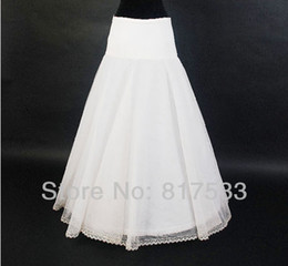 In stock high quality wedding petticoat bridal white macthing a line style elastic waistline 65cm-85cm long floor length