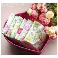 Feminine Hygiene cotton  10 pcs lot Sanitary Towel Napkin Pad Bags Purse Bag Cotton Pouch Holder Free shipping 307
