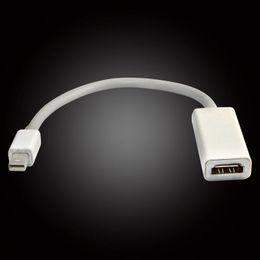 Wholesale Free DHL new CM Mini DisplayPort Display Port DP Thunderbolt to Female HDMI HD TV Adapter Cable For Apple iMac Mac Mini Mac Pro MacBook