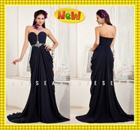 Model Pictures Sweetheart Chiffon 2014 Black Chiffon Sheath Grecian Goddess Beach Wedding Evening Dresses Sweep Train Shiny Crystals Beaded Backless Summer Bachelorette Gowns
