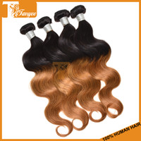 Brazilian Hair Body Wave 12 14 16 18 20 22 24 26 28 inches Ombre Brazilian Virgin Hair Body Wave 3pcs Or 4pcs Lot Ombre Hair Extensions Remy Human Hair Weft Cheap Human Hair Weave Two Tone #1b 30