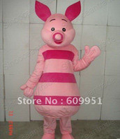 TV & Movie Costumes Unisex People Hot sale! cosplay mascot costumes pink pig Cartoon Characters for sale anime carnival costume kids party free shipping