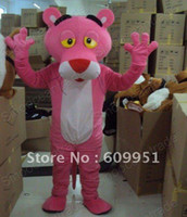 TV & Movie Costumes Unisex Animal Hot sale! cosplay mascot costumes pink A leopard Cartoon Characters for sale anime carnival costume kids party free shipping
