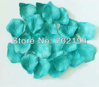 Wholesale 15bags x Turquoise green Silk Rose Petal fabric rose petal Wedding Favor Decoration Hand Throwing Flower bag