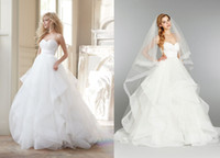 Reference Images hair ball - 2014 Ball Gown Wedding Dresses Crossover Bodice Full Tulle Skirt With Horse Hair Flounces Back Zipper Elegant Bridal Gown