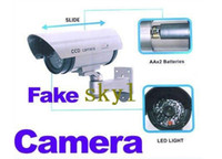 Wholesale Fake waterproof Surveillance Security Camera Dummy camera with LED light flashes CCTV