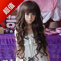 Wholesale Big discount Cool2day Fashion Long Full Wig curly cosplay full lace wig cheap wigs color factory price