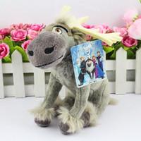 Wholesale 5pcs New Milu deer plush toy FROZEN stuffed toy Kristoff friend Sven doll for kids toy