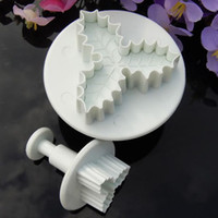 Wholesale Holly Leaf Plunger Cutter Mold Fondant Cake Decorating Kitchen Tool