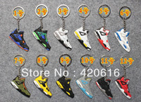 Key Chains Fashion Bendell Free Shipping 12pcs lot Air Jordan IV AJ 4 Generation Men's Sneaker Shoes Sport Silicone Rubber Keychain Novelty item Wholesale
