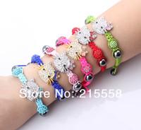 Wholesale Children Cat Shamballa Bracelet Crystal Disco Ball Beads Cat Bracelet for Kids Child