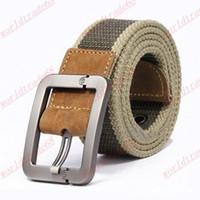 Belts men's belts - Brand New Men s Belts Fashion Casual men belt buckle canvas real leather fashion canvas belt for men drop shipping