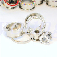 ear gauges - Crystal Ear Gauges Helix Piercing body jewelry pirsing pc include color