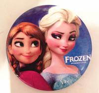 Multicolor PVC Pendant Wholesale - frozen badges children button pin badge 4.5cm Anna Elsa princess Olaf costume cosplay baby toy fashion badges present 30pcs card