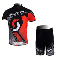 Wholesale Scott Team Unique Cycling jerseys Lockdown Puller to Eliminate Rattles Team Logos Topcool Wicking Treatment Durable Fabric Bike Clothing