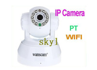 Wholesale IP camera Promotion Nightvision IR Webcam Web CCTV Camera WiFi Wireless IP Camera white black color DHL FREE buy best